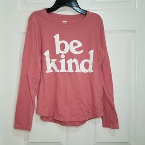 Old Navy rose pink be kind long sleeve top XL